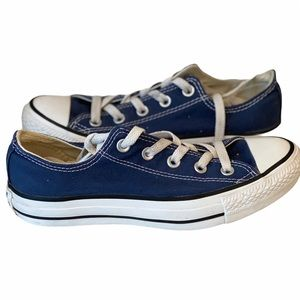 Converse OX Navy Blue Sneakers Shoes Womens 6